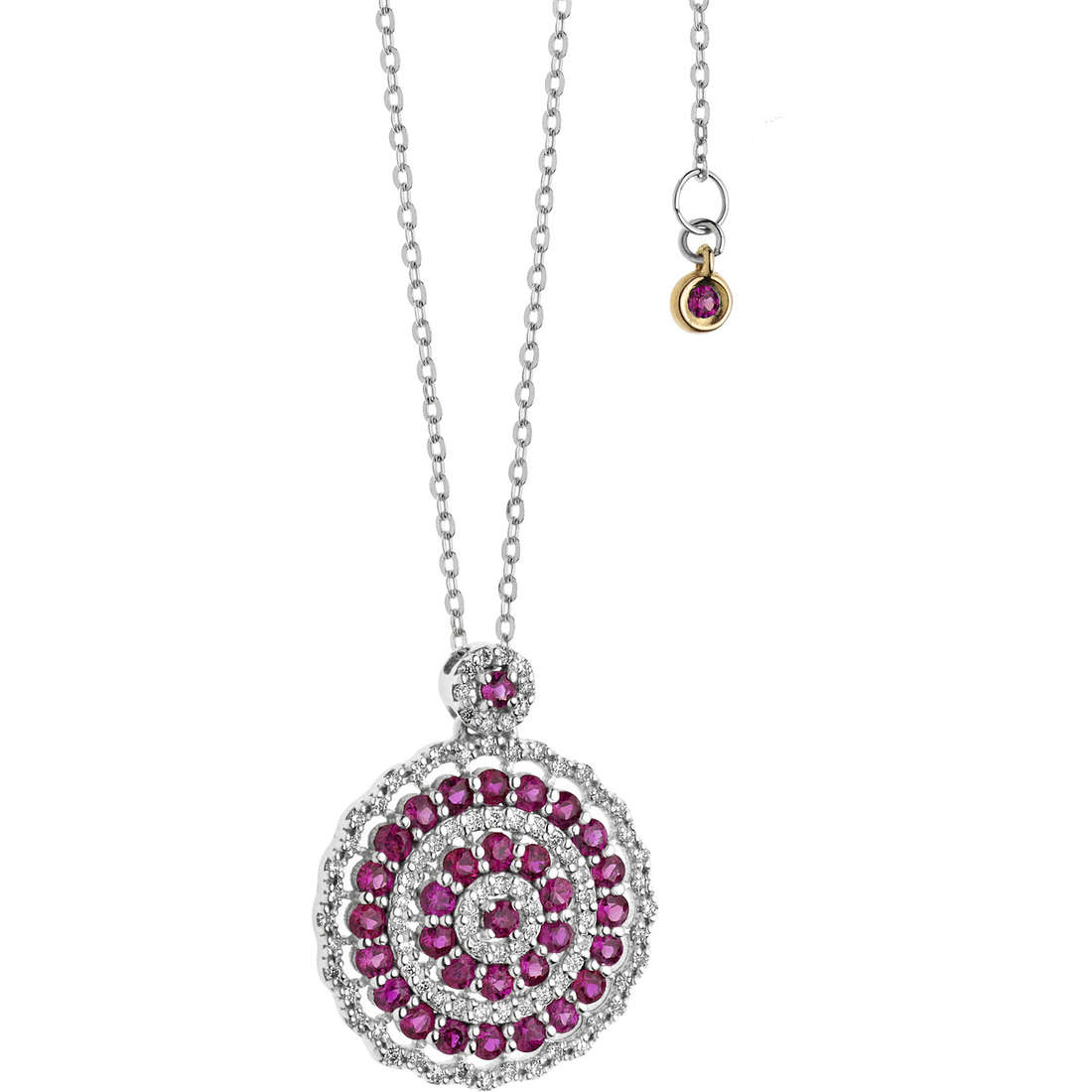 necklace woman jewellery Comete Rose di diamanti GLB 1110