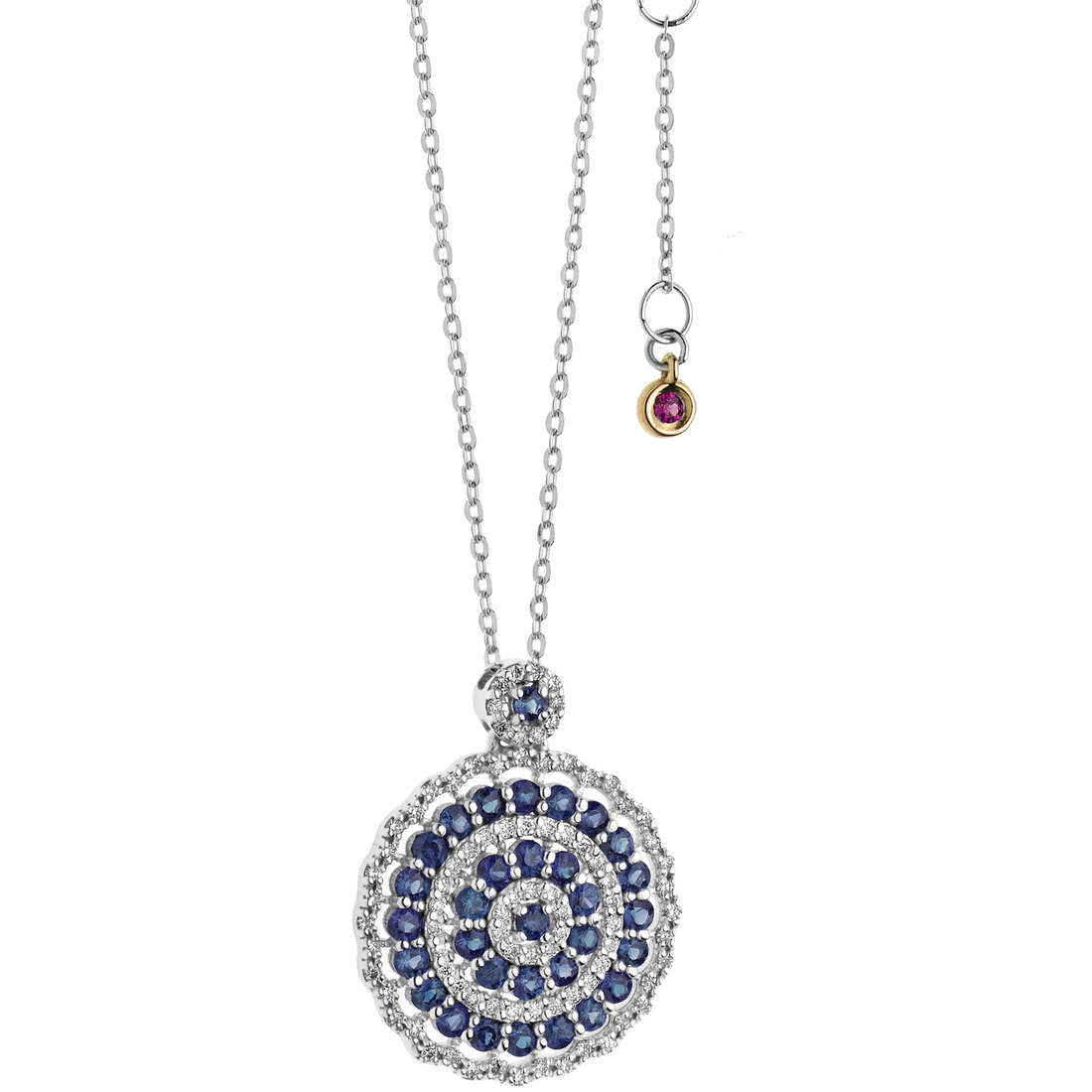 necklace woman jewellery Comete Rose di diamanti GLB 1111