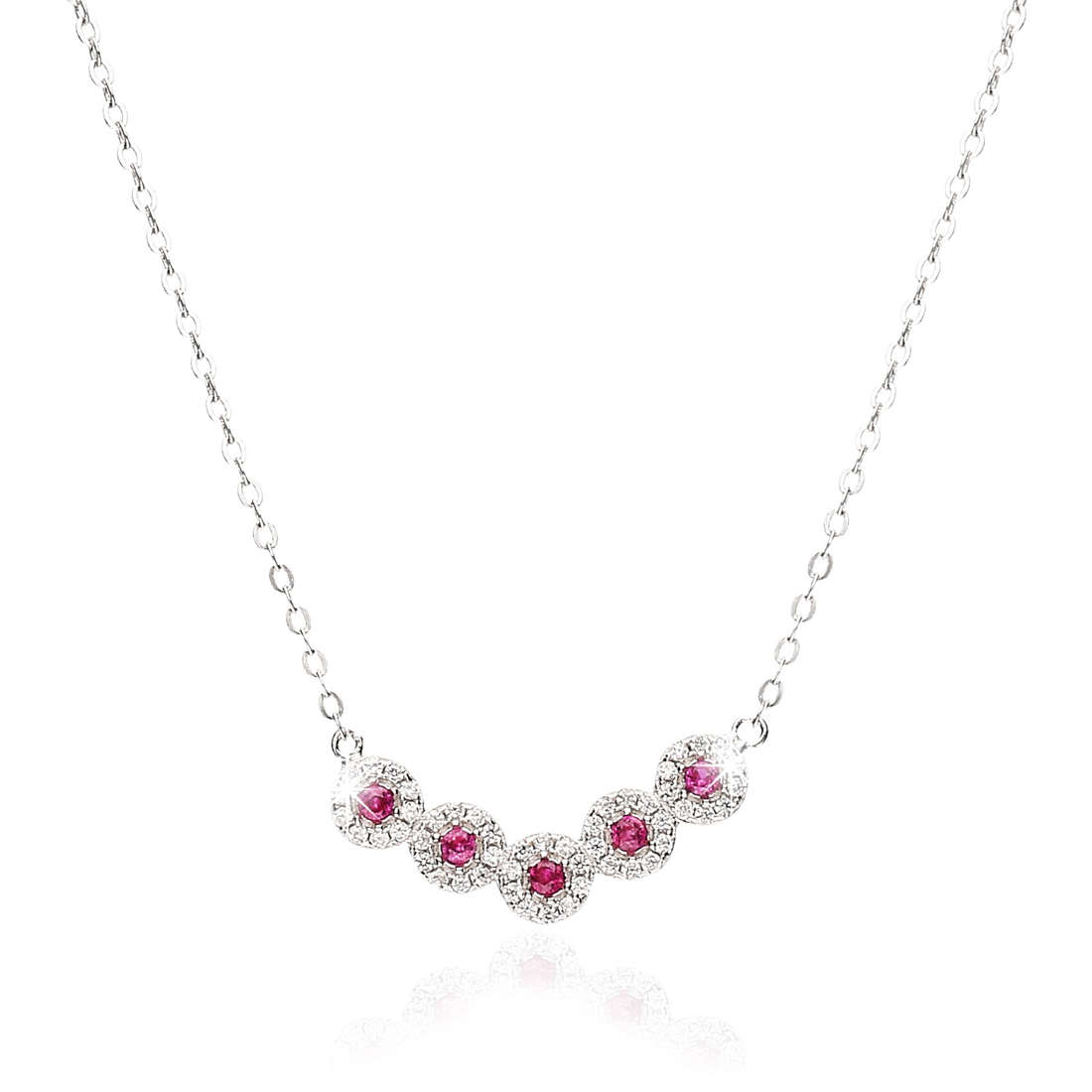 necklace woman jewellery GioiaPura GPSRSCL2120-RO
