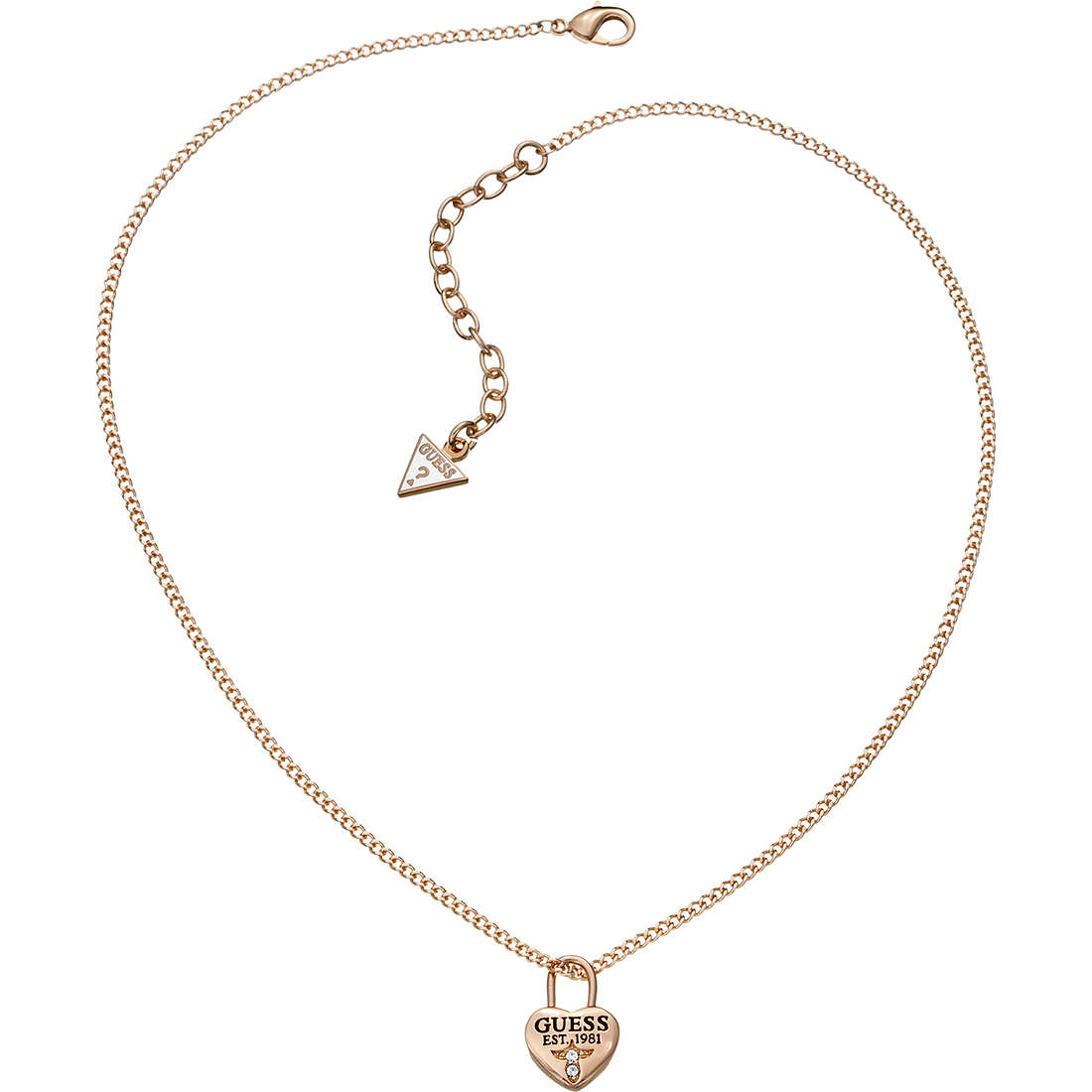 necklace woman jewellery Guess Love Lock UBN51451