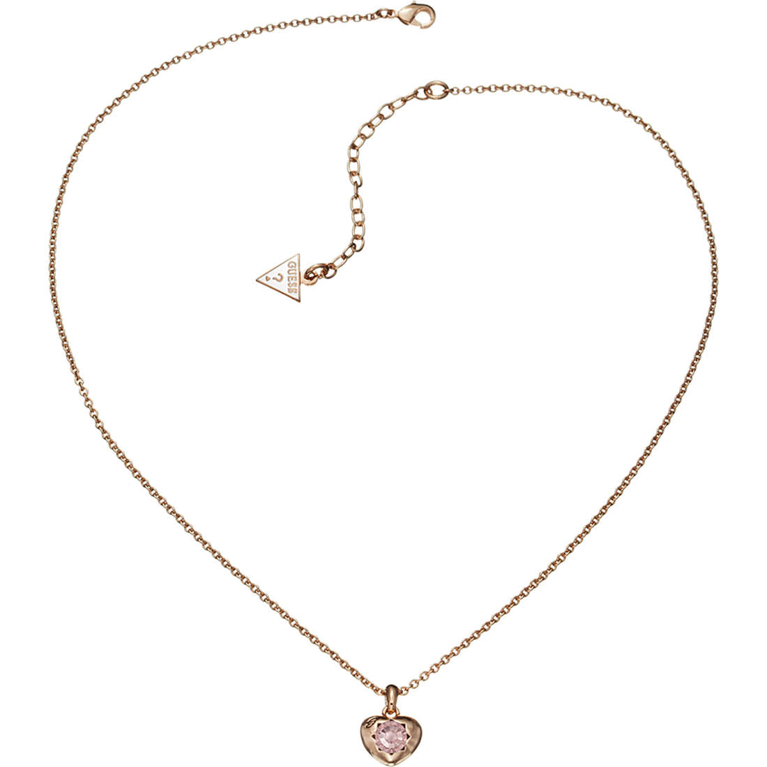 Necklace Woman Jewellery Guess Rose Gold Ubn21564 Necklaces Guess