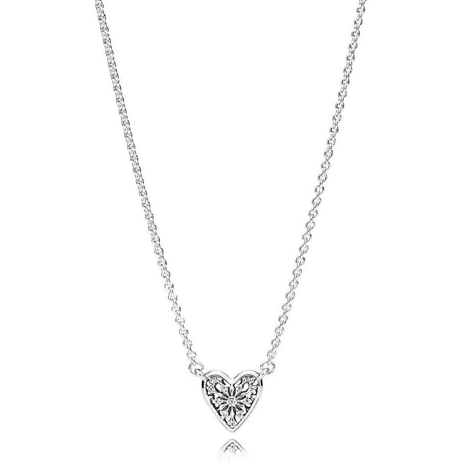 Pandora Women Silver Pendant Necklace - 396227CZ-45 VBrEJhht