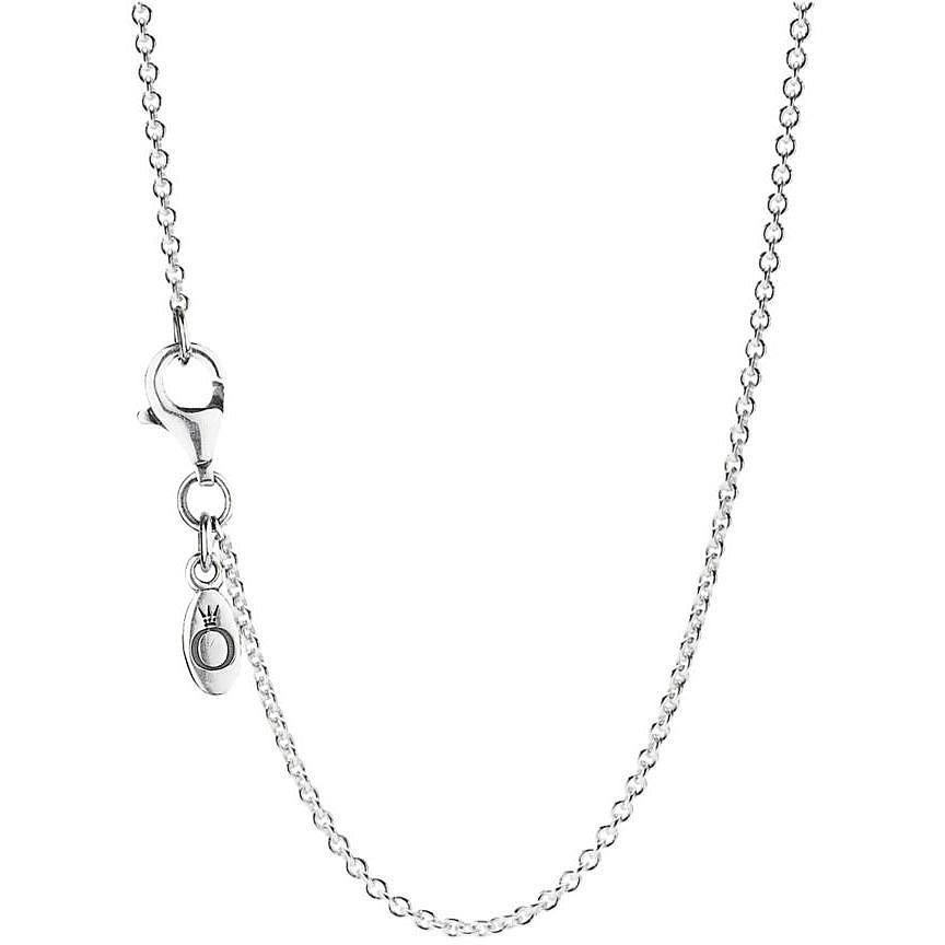 Pandora Women Silver Pendant Necklace - 397197CBK-38 MKXD8W