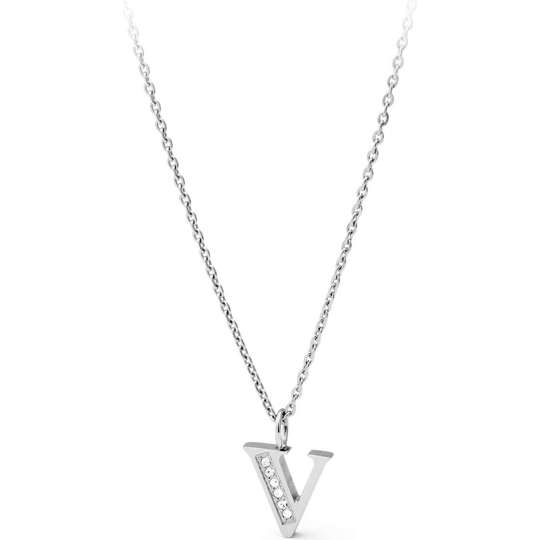 necklace woman jewellery Sagapò Alphabet SALV2