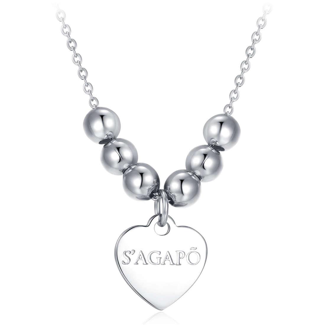 necklace woman jewellery Sagapò HAPPY SHAC13
