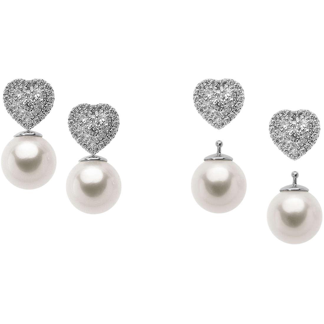 orecchini donna gioielli Comete Bianca ORP 659