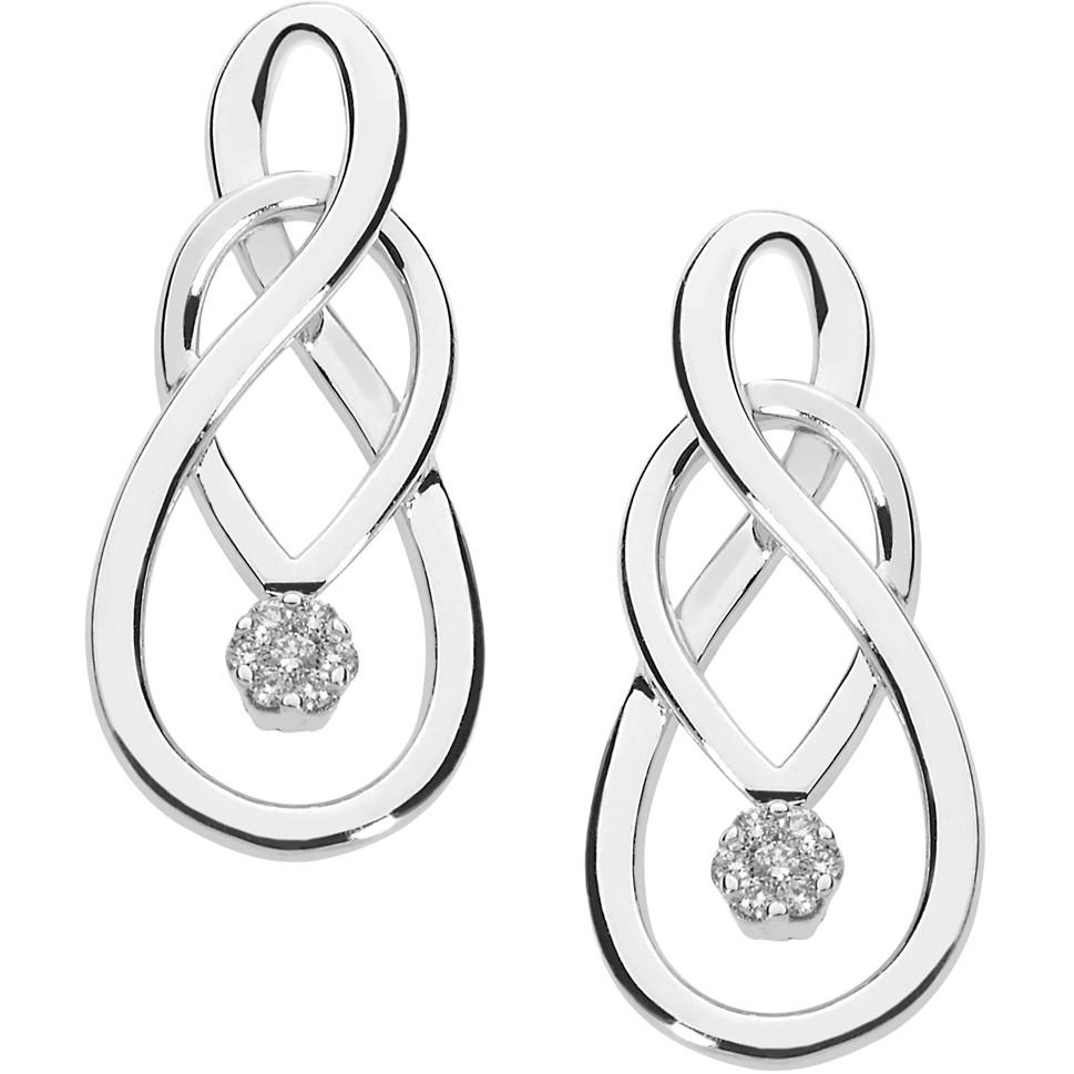 orecchini donna gioielli Comete Fantasie di diamanti ORB 847