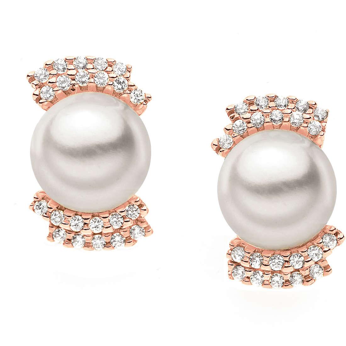 orecchini donna gioielli Comete Perla ORP 488