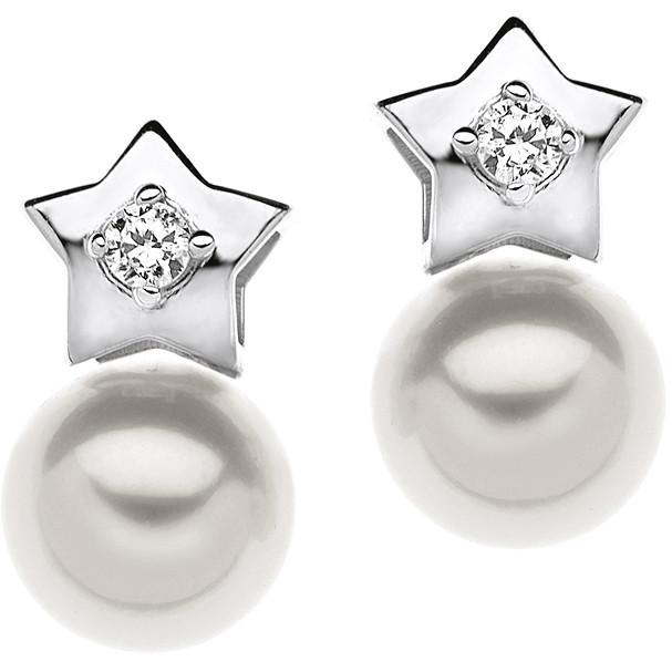orecchini donna gioielli Comete Perla ORP 528