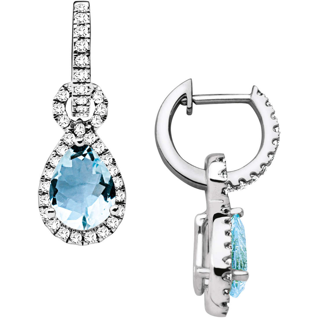 orecchini donna gioielli Comete Pietre preziose colorate ORQ 194
