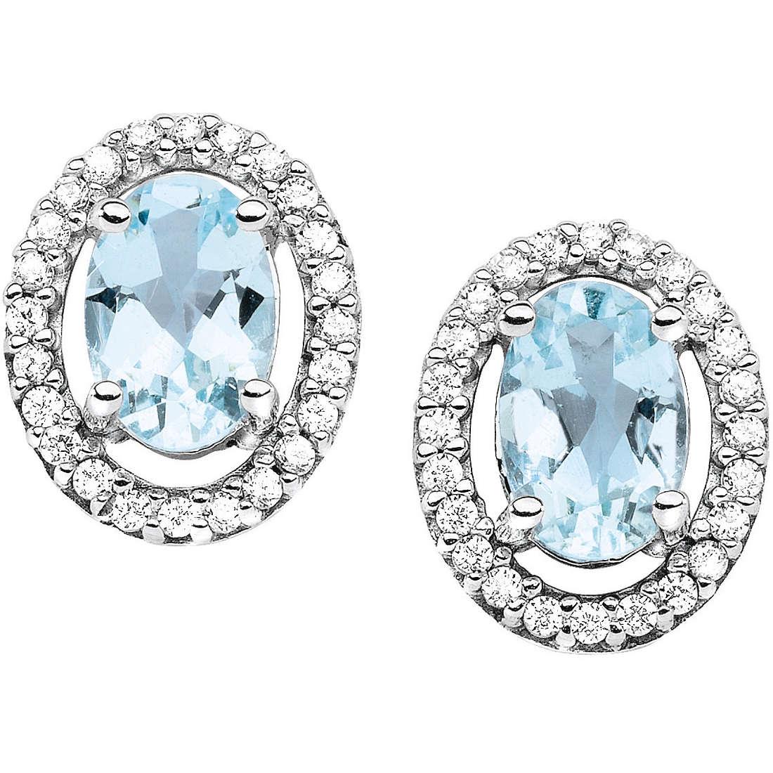orecchini donna gioielli Comete Pietre preziose colorate ORQ 199