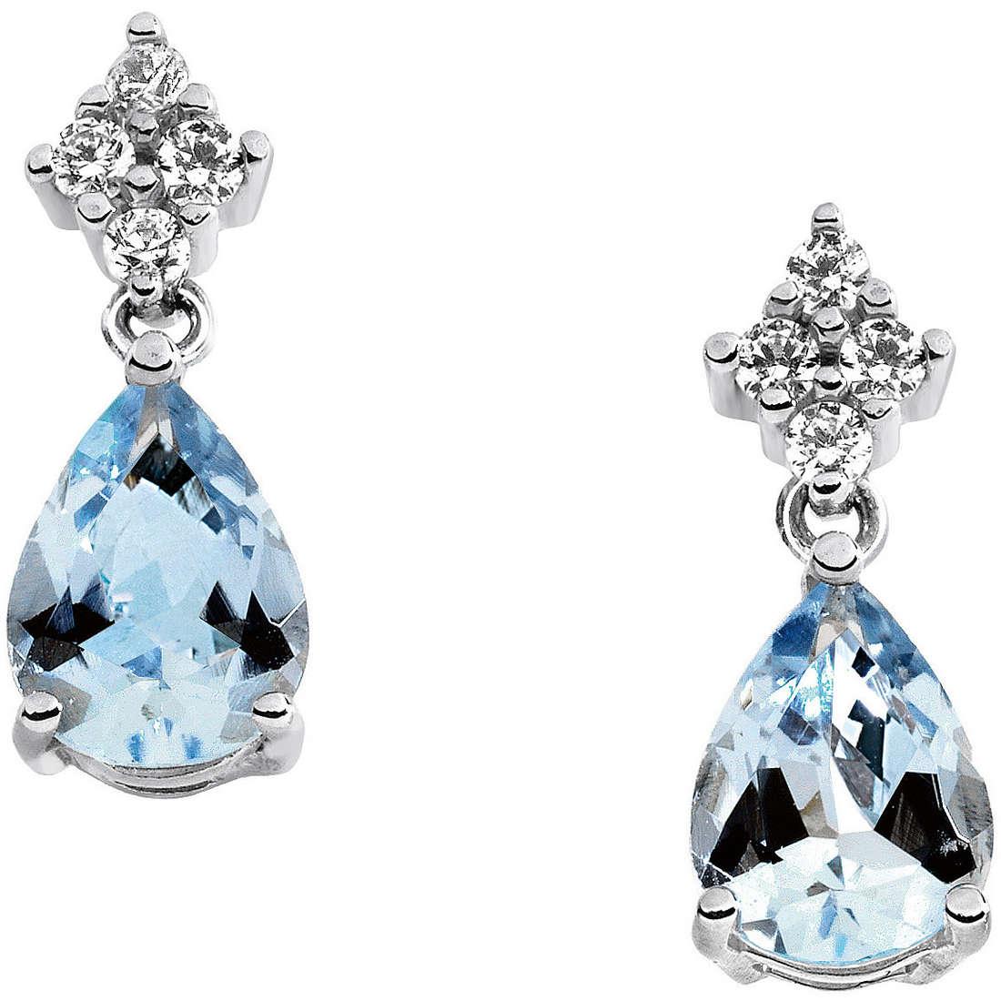 orecchini donna gioielli Comete Pietre preziose colorate ORQ 201