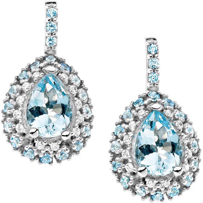 orecchini donna gioielli Comete Pietre preziose colorate ORQ 209