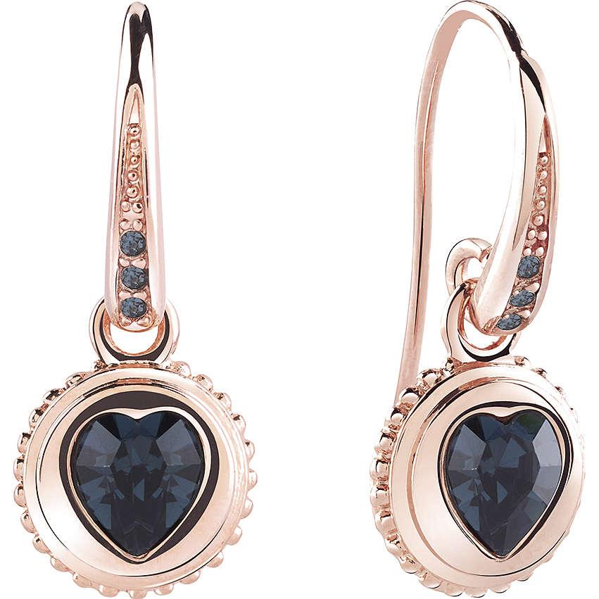 orecchini donna gioielli Guess Rose Gold UBE21525