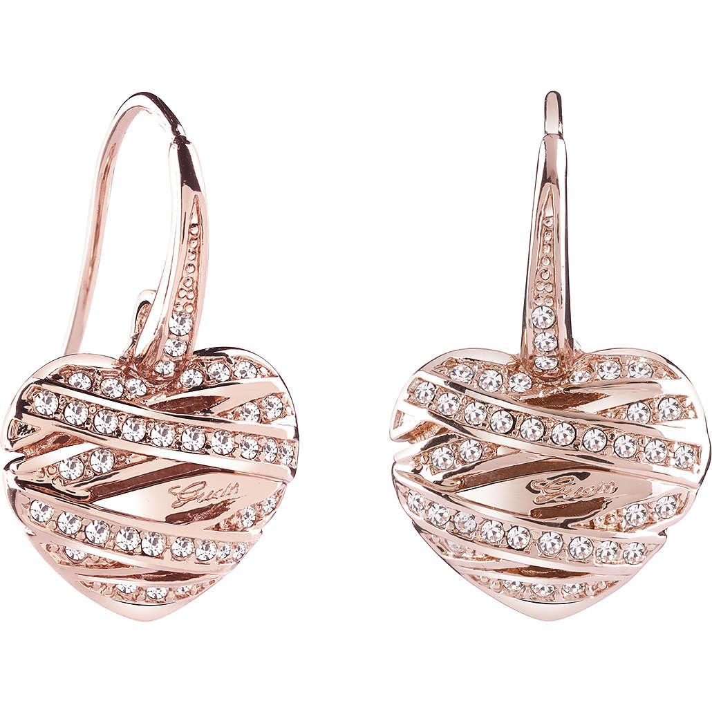 orecchini donna gioielli Guess Rose Gold UBE21583