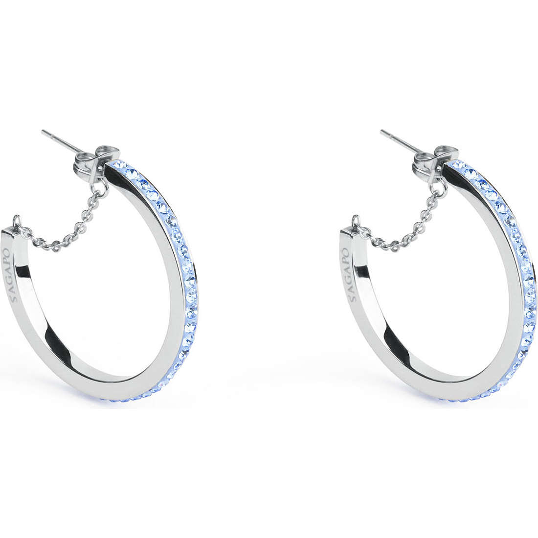 orecchini donna gioielli Sagapò Crystal ring SCR21