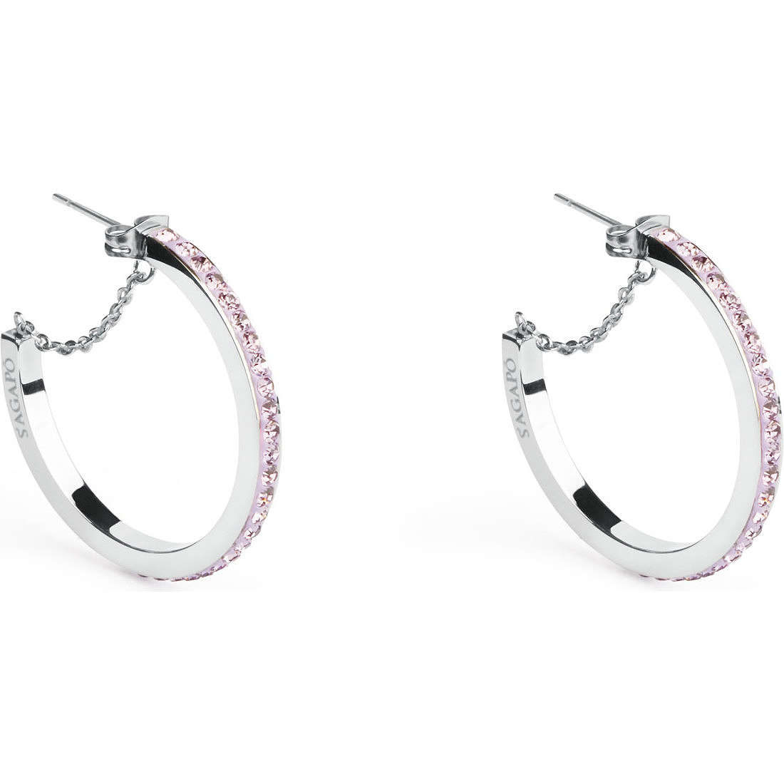 orecchini donna gioielli Sagapò Crystal ring SCR25