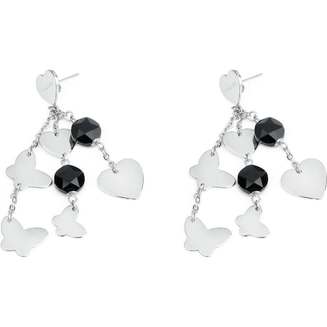 orecchini donna gioielli Sagapò Noir SNR21
