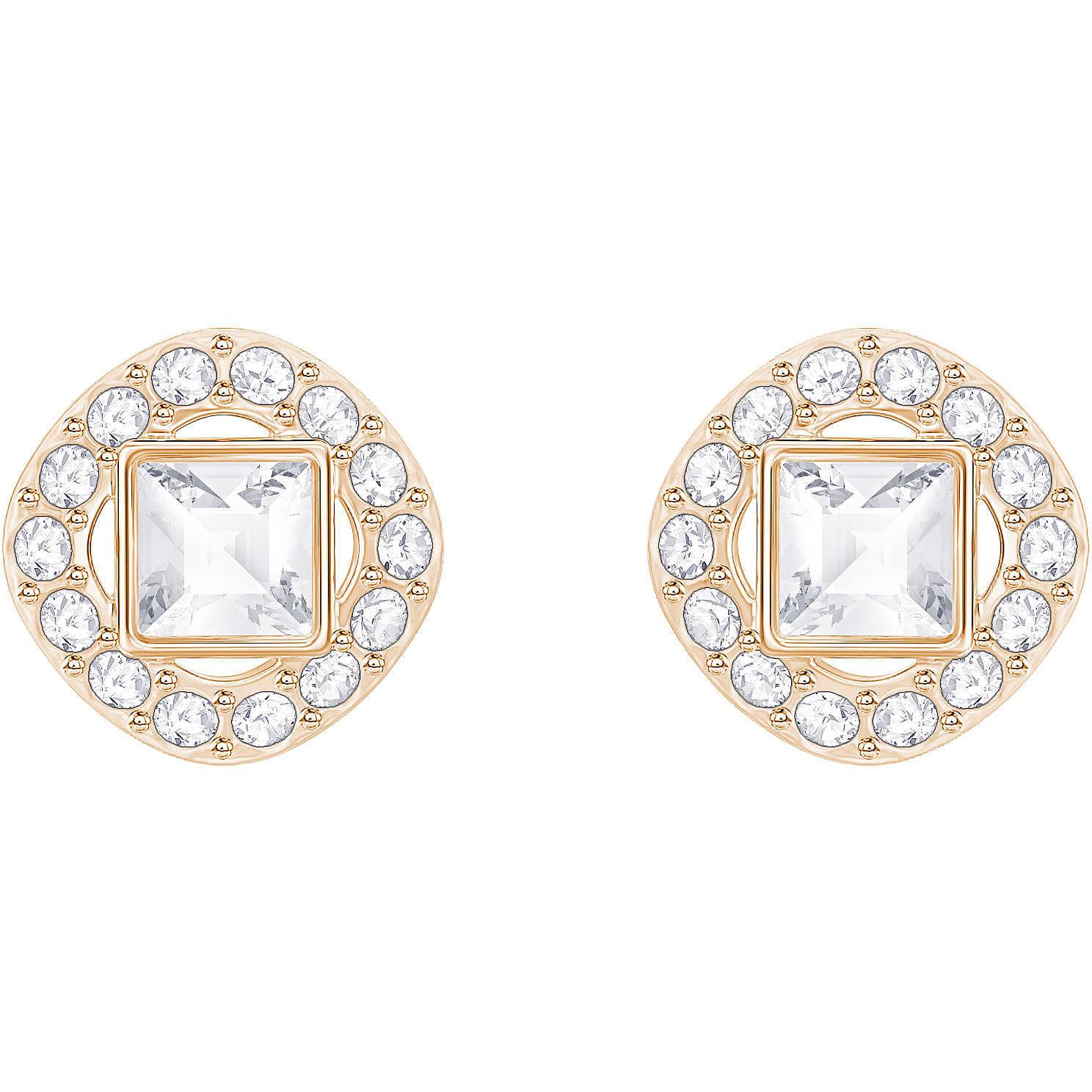 2efe95ad1f9cf7 orecchini donna gioielli Swarovski Angelic Square 5352049 orecchini ...