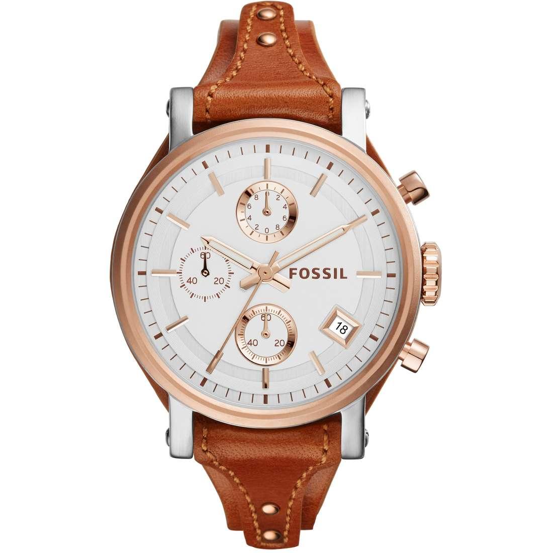 orologio cronografo donna Fossil Perfect Boyfriend ES3837