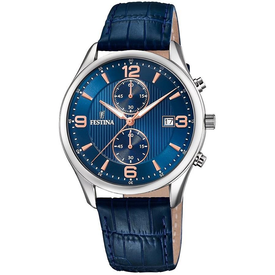 nuovo prodotto 5901e 11651 orologio cronografo uomo Festina Timeless Chronograph F6855/6