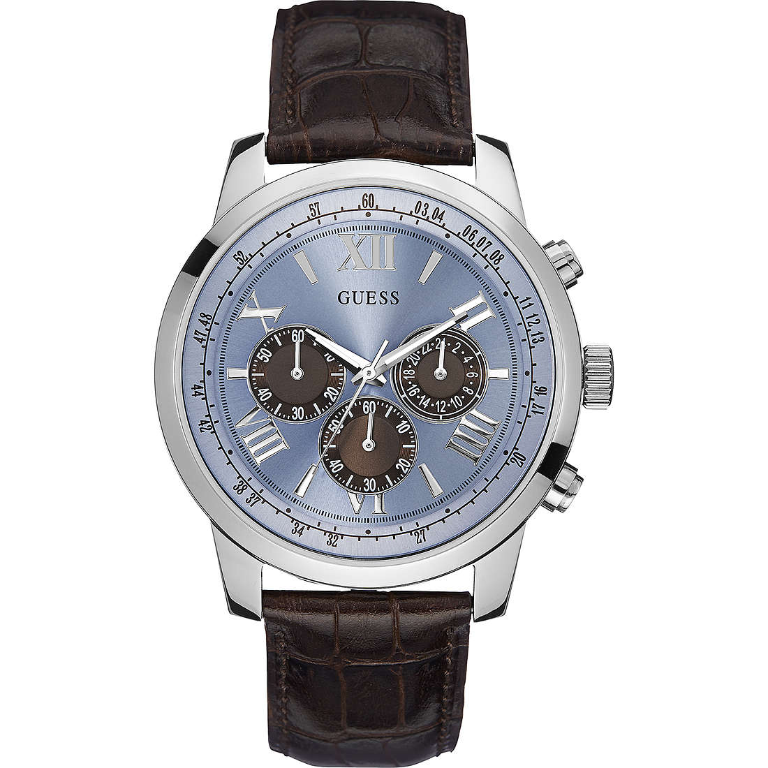 orologio cronografo uomo Guess Ice Blue W0380G6