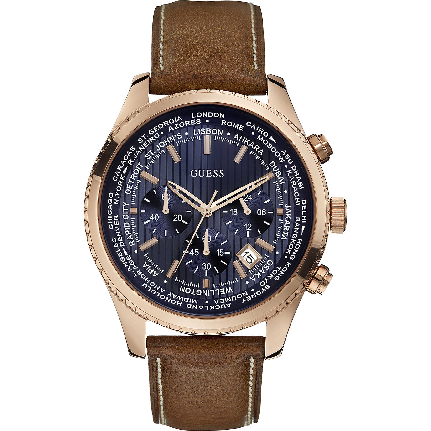 outlet 32168 ae098 orologio cronografo uomo Guess Pursuit W0500G1
