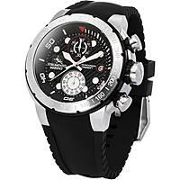 orologio cronografo uomo Strumento Marino Saint-Tropez SM130S/SS/NR/NR