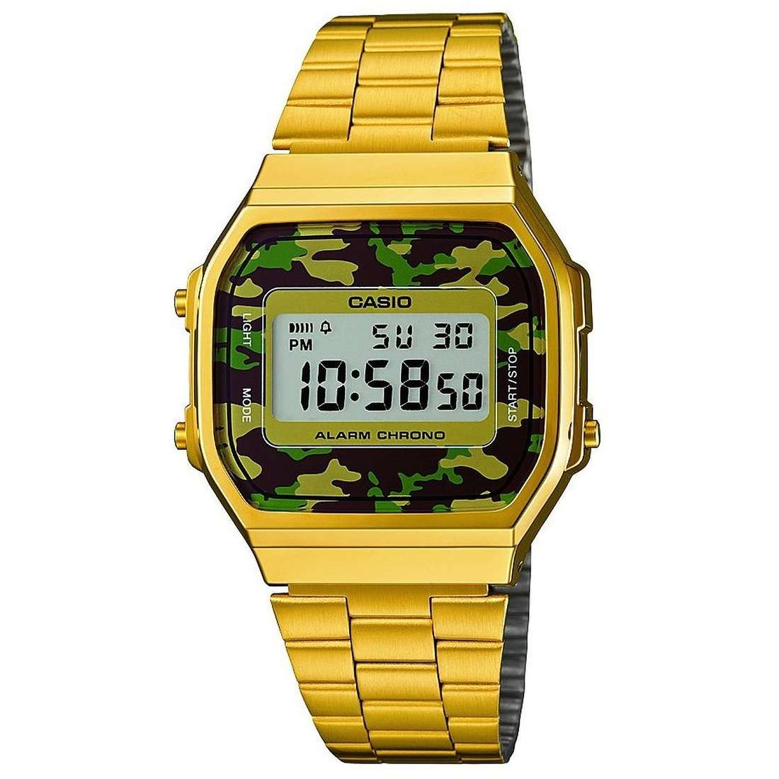 Orologio Digitale Unisex Casio Casio Collection A168WEGC-3EF