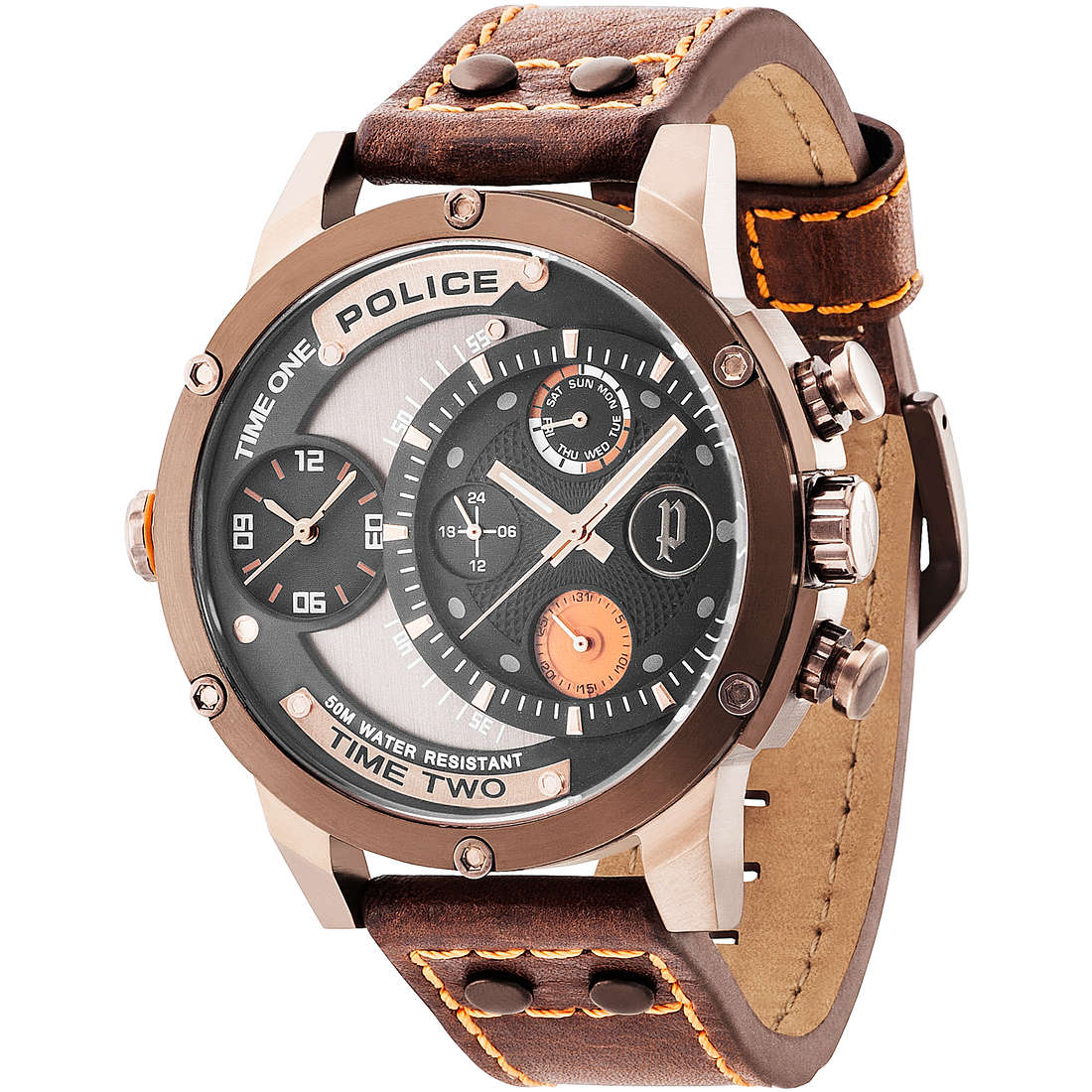 orologio dual time uomo Police Adder R1451253002
