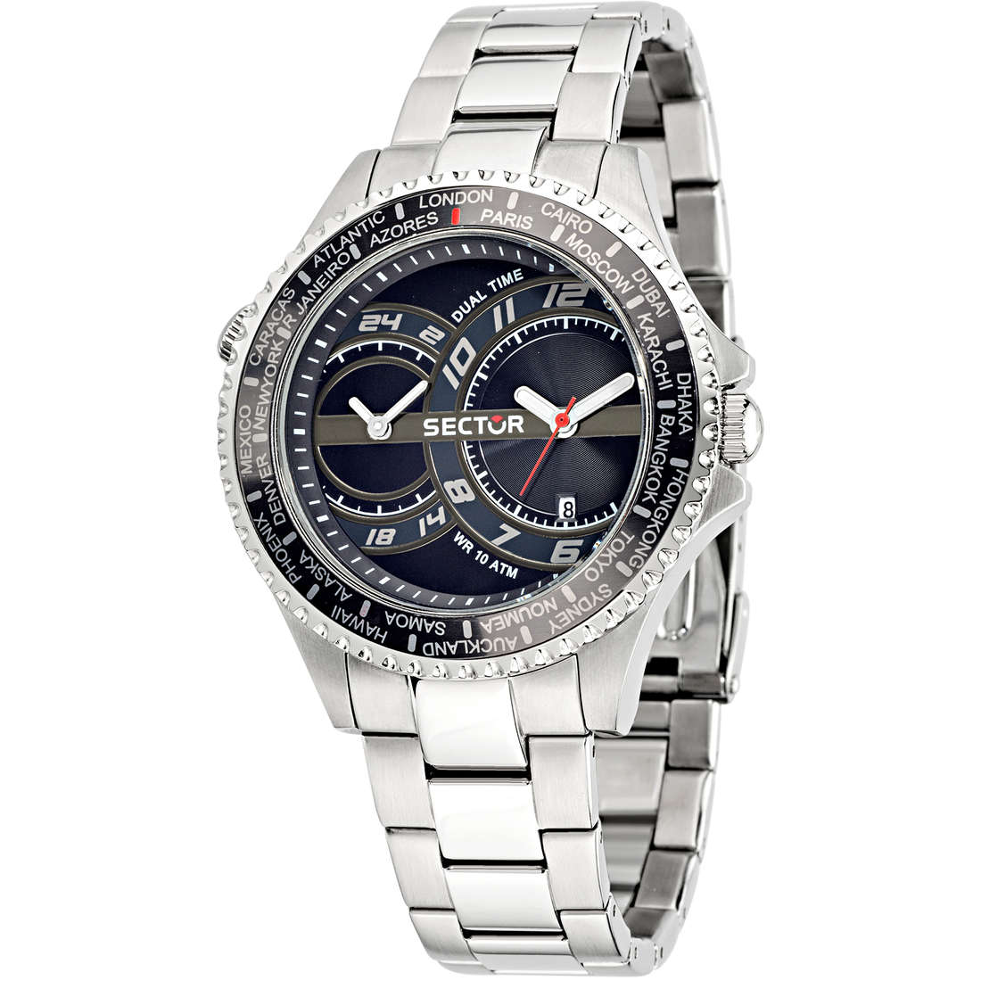 orologio dual time uomo Sector 235 R3253161004
