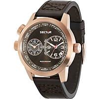 orologio dual time uomo Sector Oversize R3251102022