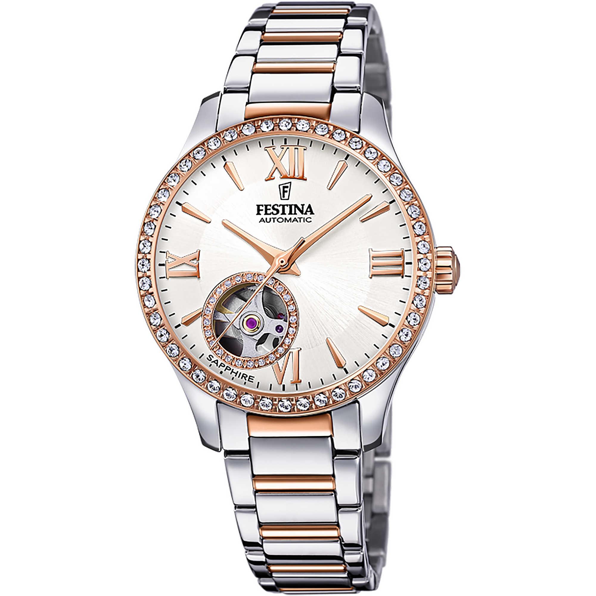 esquema caricia Días laborables  orologio meccanico donna Festina Automatico F20487/1 meccanici Festina