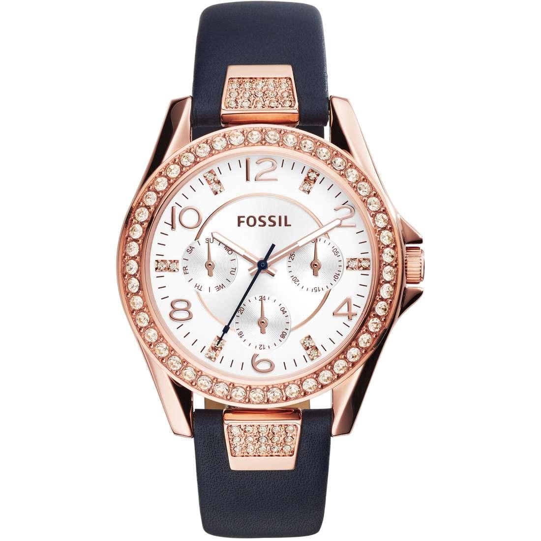orologio multifunzione donna Fossil Riley ES3887