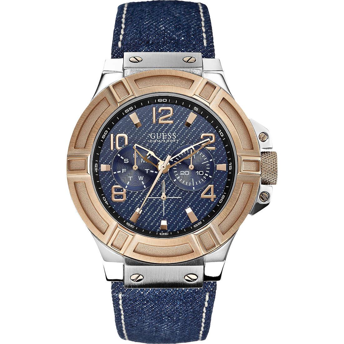 orologio multifunzione uomo Guess Rigor W0040G6
