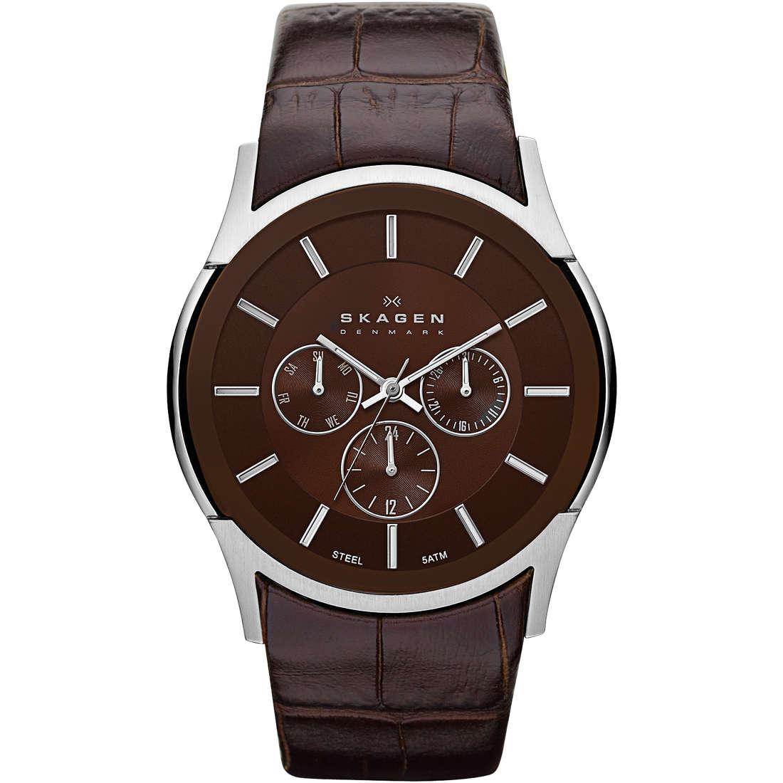 orologio multifunzione uomo Skagen SKW6001