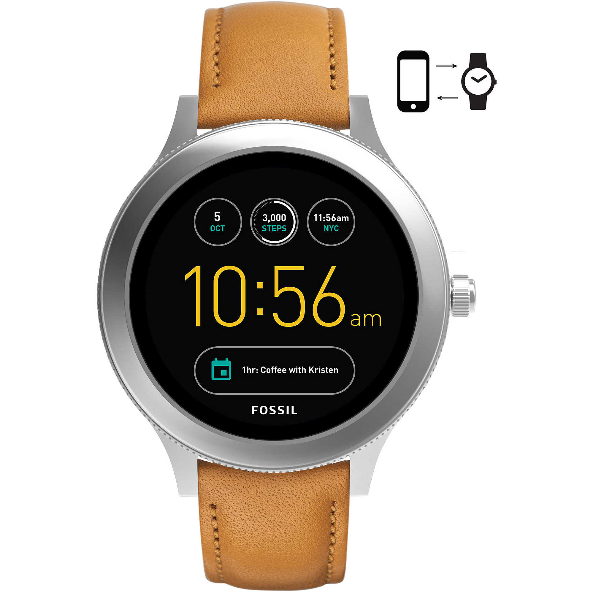 Q Smartwatch Smartwatches Fossil Ftw6007 Orologio Donna Venture D9WIHE2Y