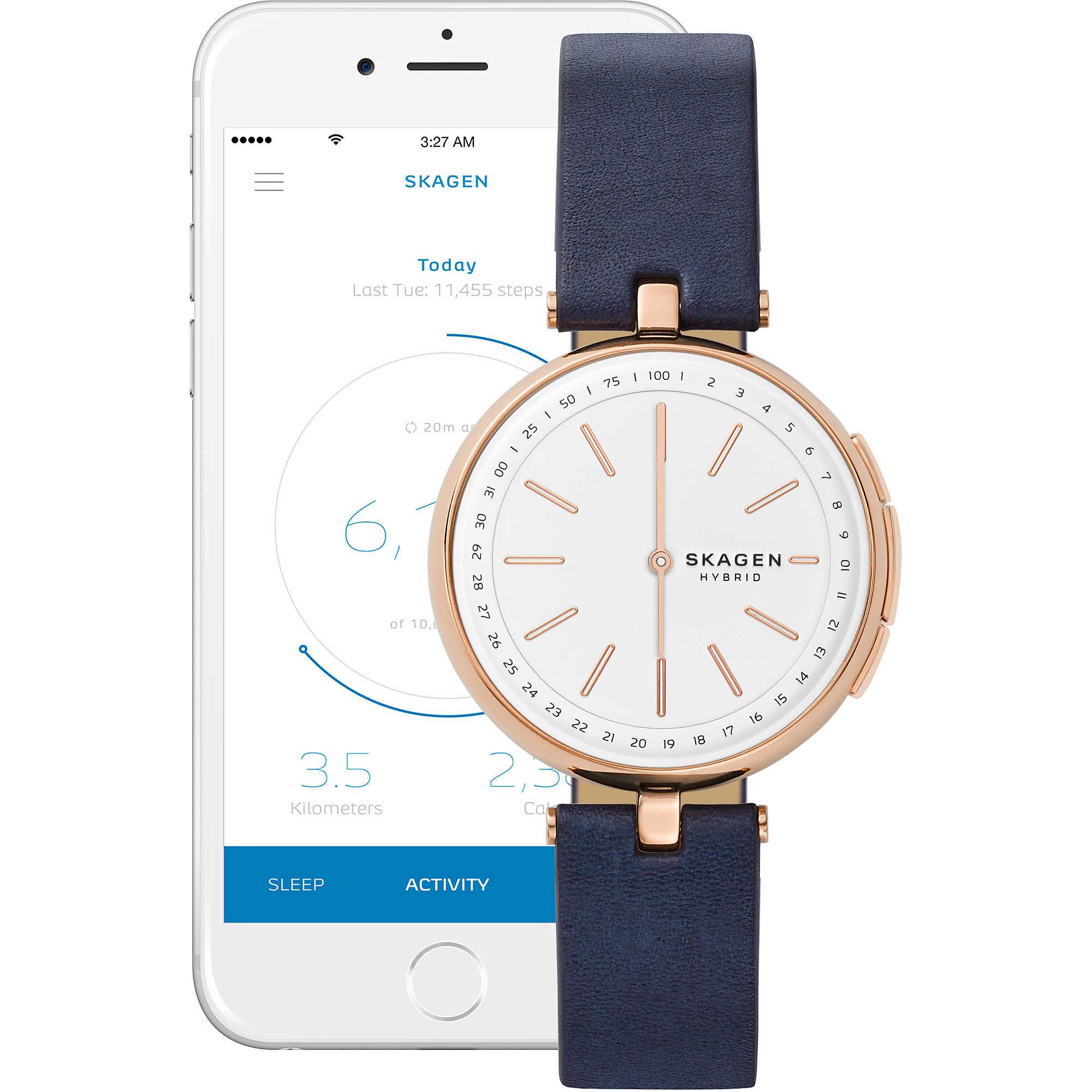 990764afb9aff orologio Smartwatch donna Skagen Signatur T-Bar Connected SKT1412. zoom