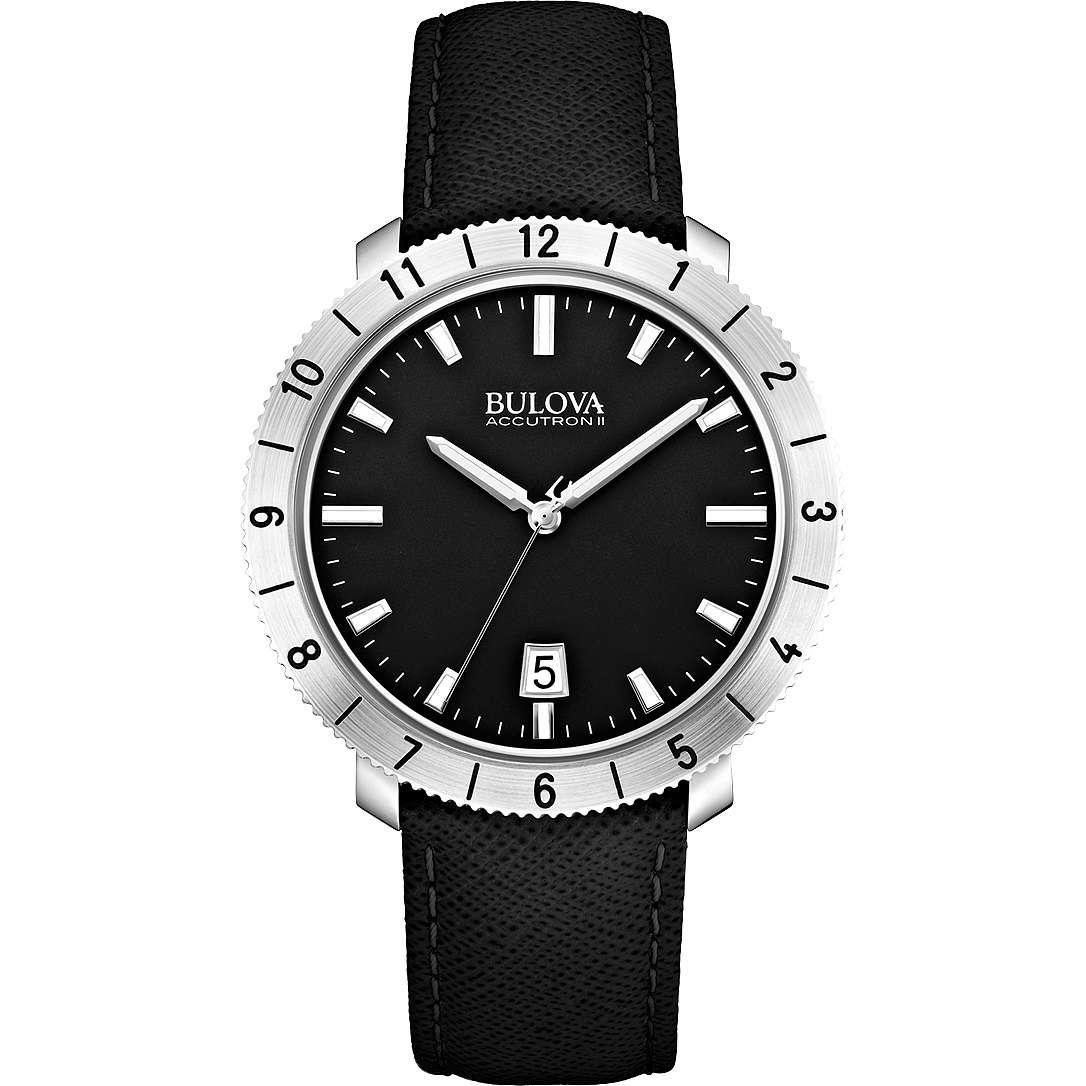 orologio solo tempo donna Bulova Accutron II Moonview 96B205