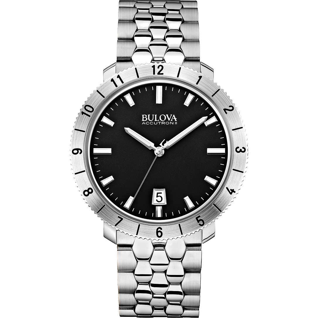 orologio solo tempo donna Bulova Accutron II Moonview 96B207