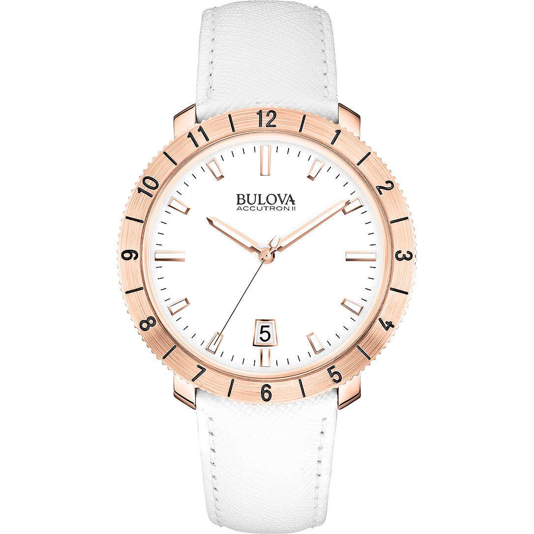 orologio solo tempo donna Bulova Accutron II Moonview 97B128