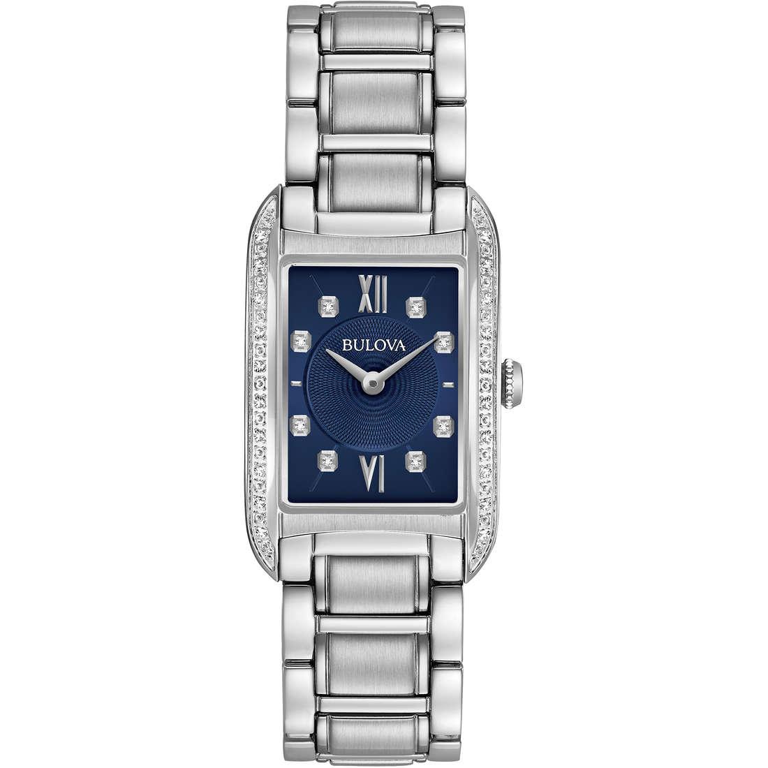 orologio solo tempo donna Bulova Curv Diamonds 96R211