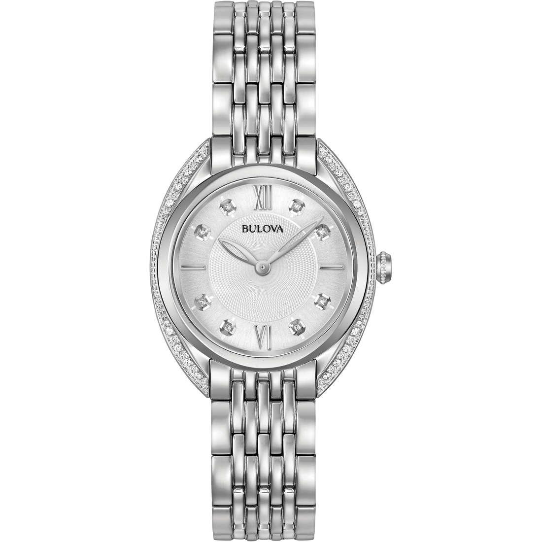 orologio solo tempo donna Bulova Curv Diamonds 96R212