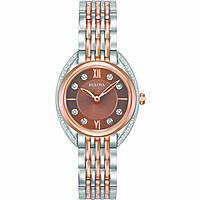 orologio solo tempo donna Bulova Curv Diamonds 98R230