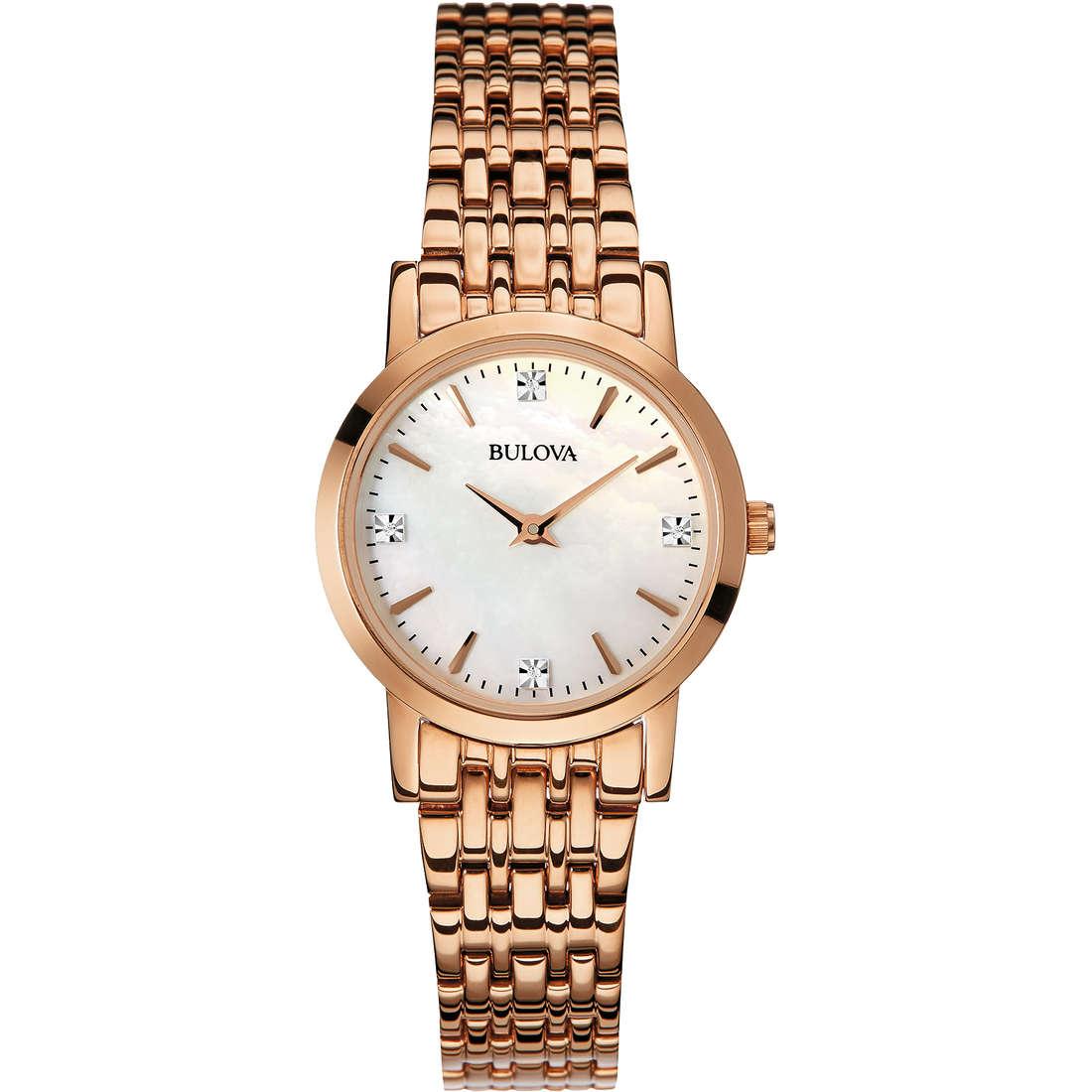 orologio solo tempo donna Bulova Diamanti 97S106