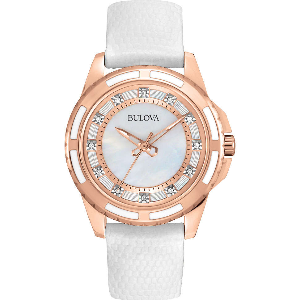orologio solo tempo donna Bulova Diamanti 98P119