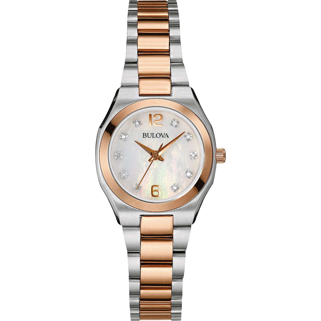 orologio solo tempo donna Bulova Diamanti 98P143