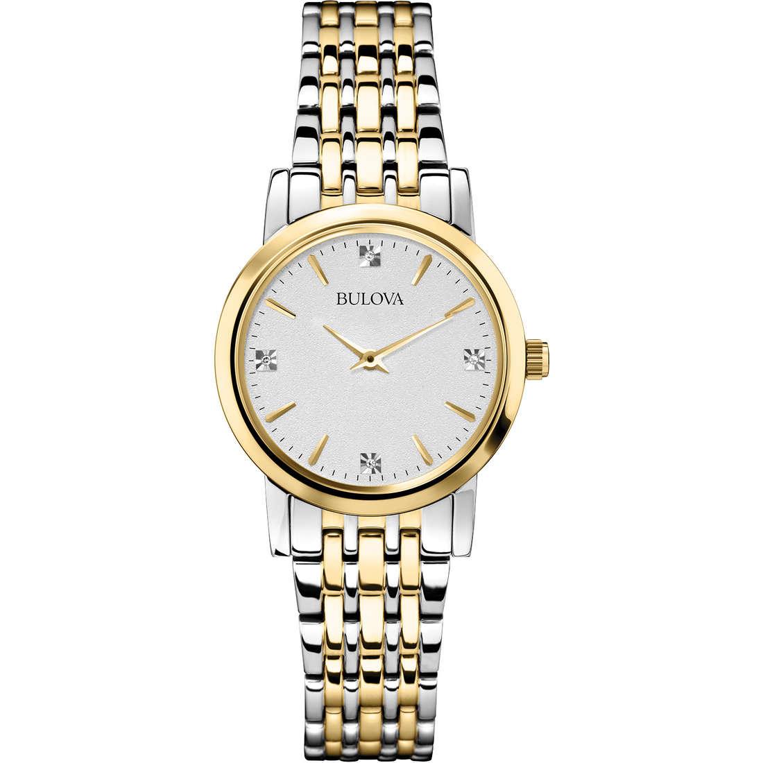 orologio solo tempo donna Bulova Diamanti Duets 98S115