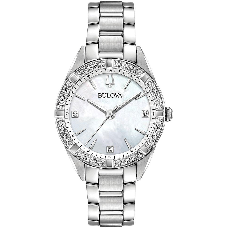 personalizzate brillantezza del colore gamma completa di articoli orologio solo tempo donna Bulova Diamonds 96R228