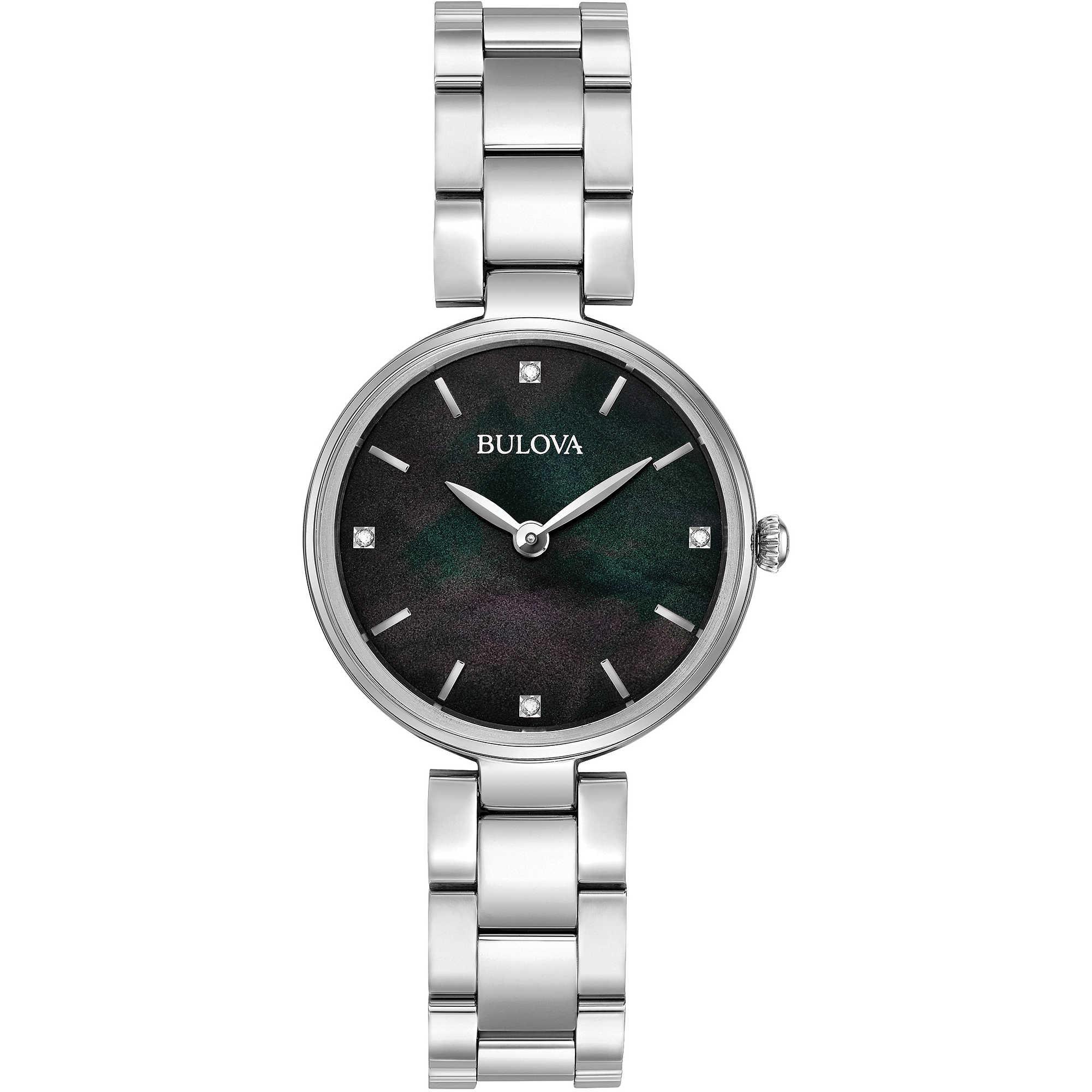 bambino comprare reale marchio popolare orologio solo tempo donna Bulova Diamonds 96S173